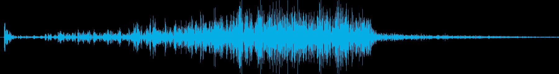 500円玉をこする音の再生済みの波形