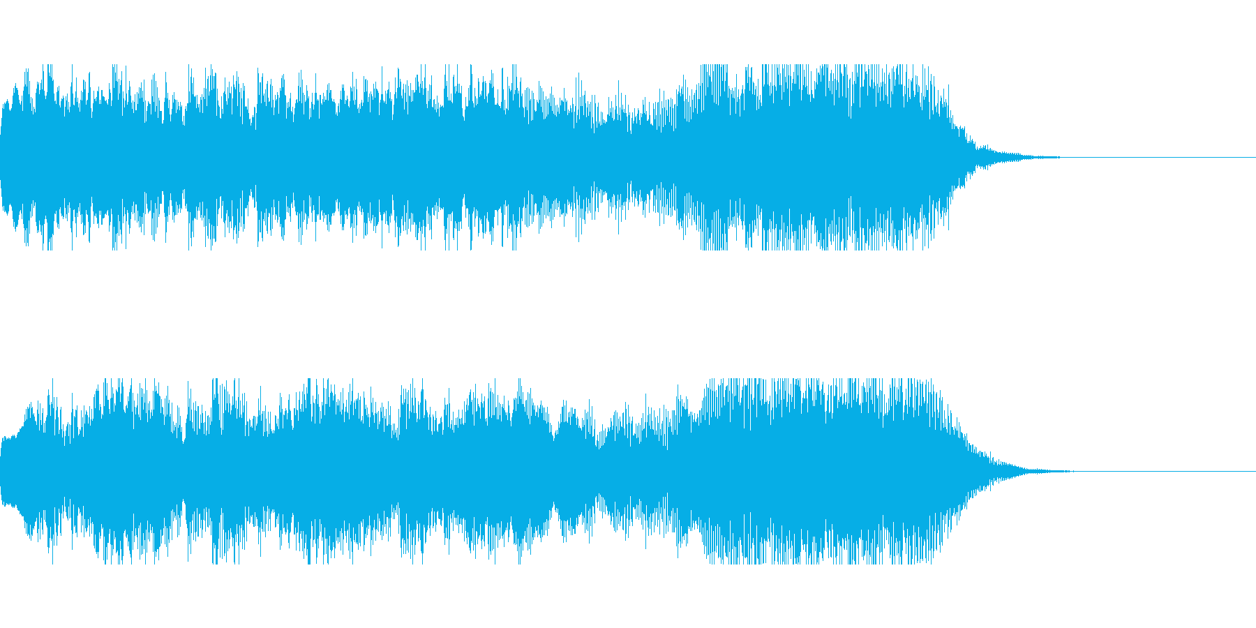色々な施設のお知らせメロディにの再生済みの波形