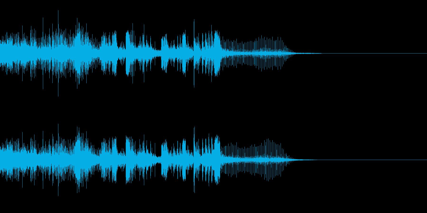 スパーク音-26の再生済みの波形