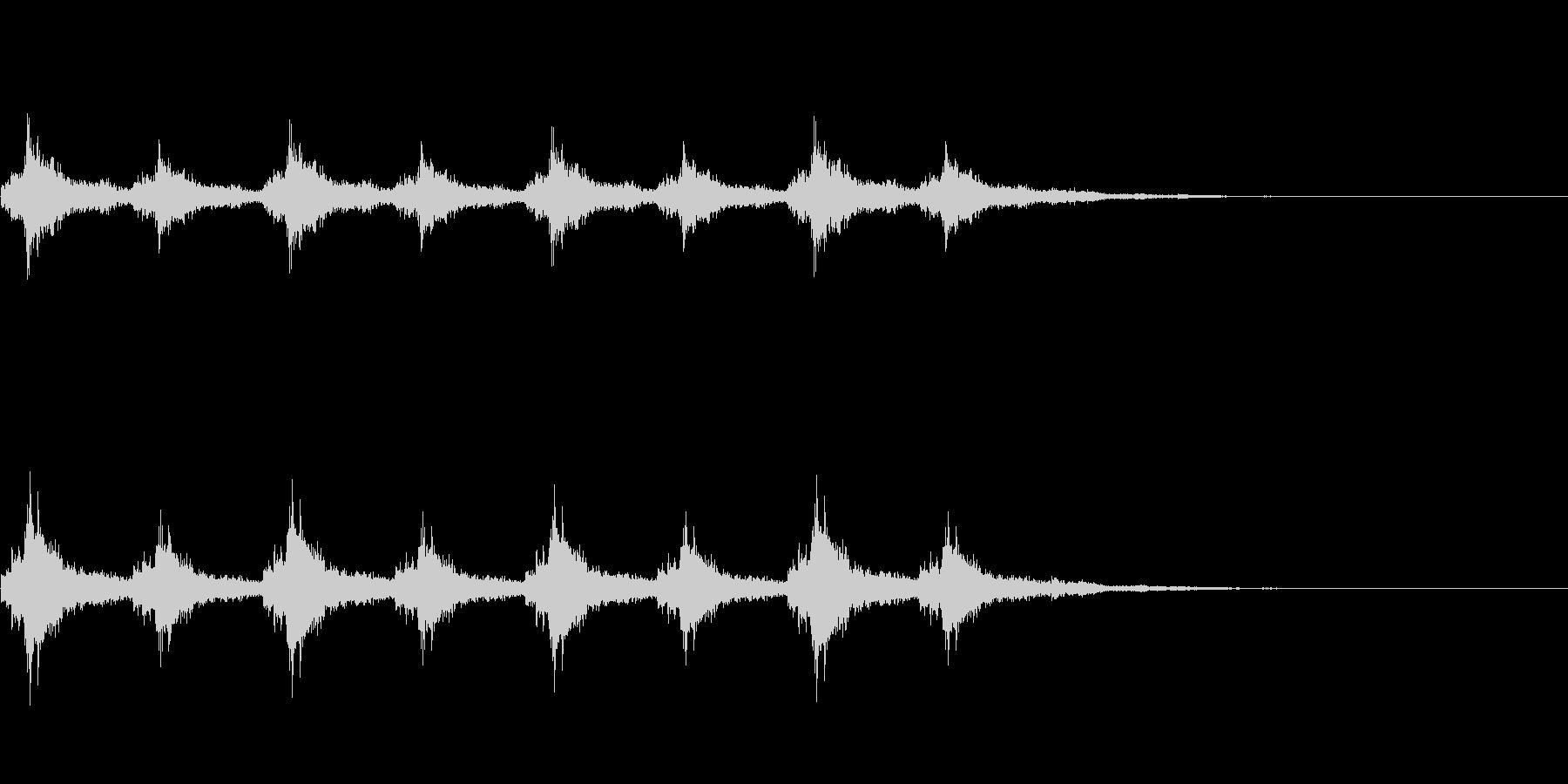 シャンシャン(クリスマス・鈴の音)の未再生の波形