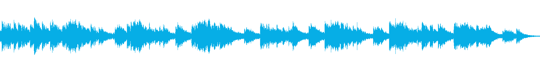 ひっそりした独特なメロディーの再生済みの波形