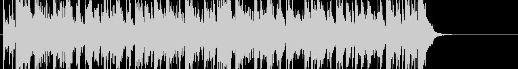 24秒・アコギとピアノの爽やかジングルの未再生の波形