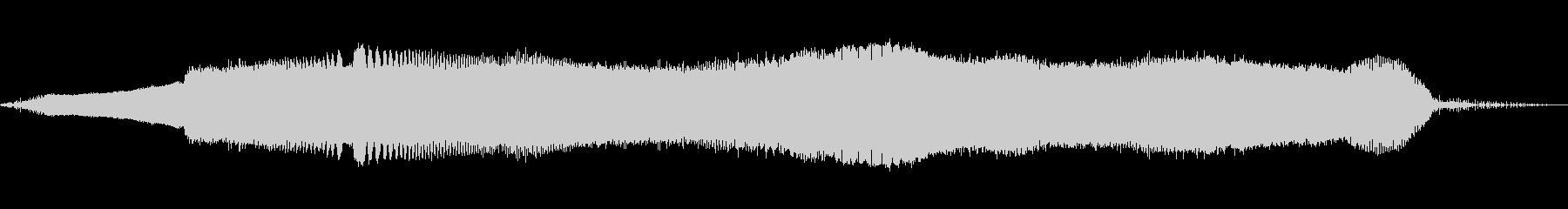 トーンアラーム不協和音ロングWAVの未再生の波形