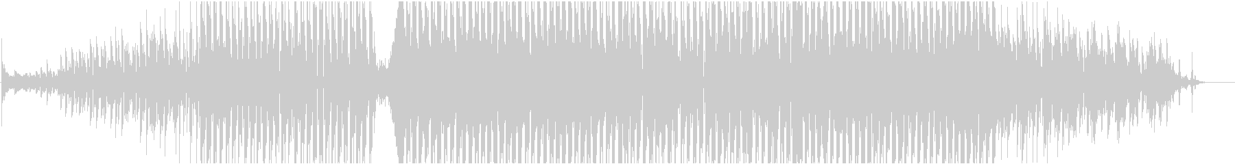 機械的、近未来的なサウンドのBGMです。の未再生の波形