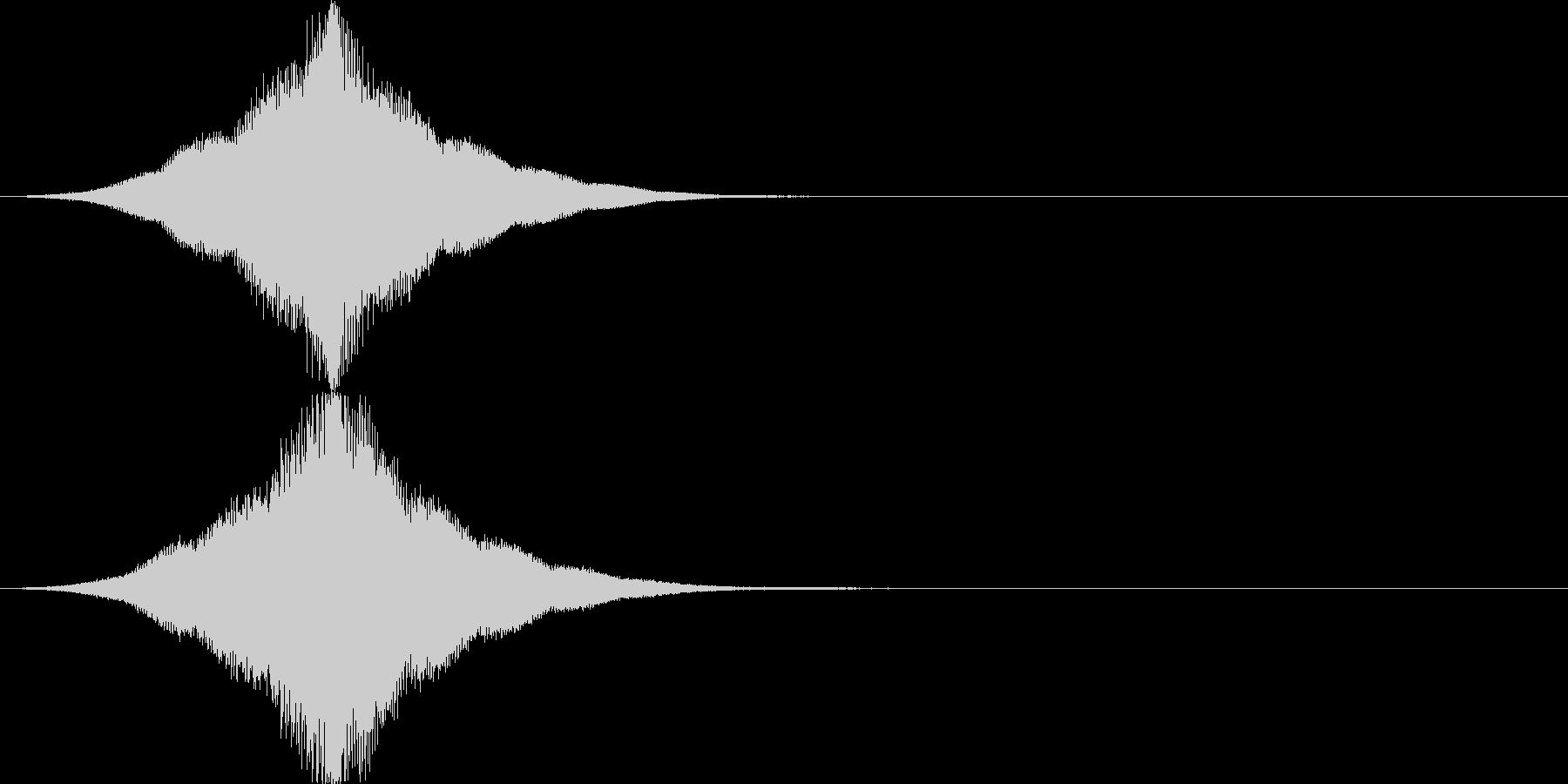 インパクト/フェード/大きくなる/重厚2の未再生の波形