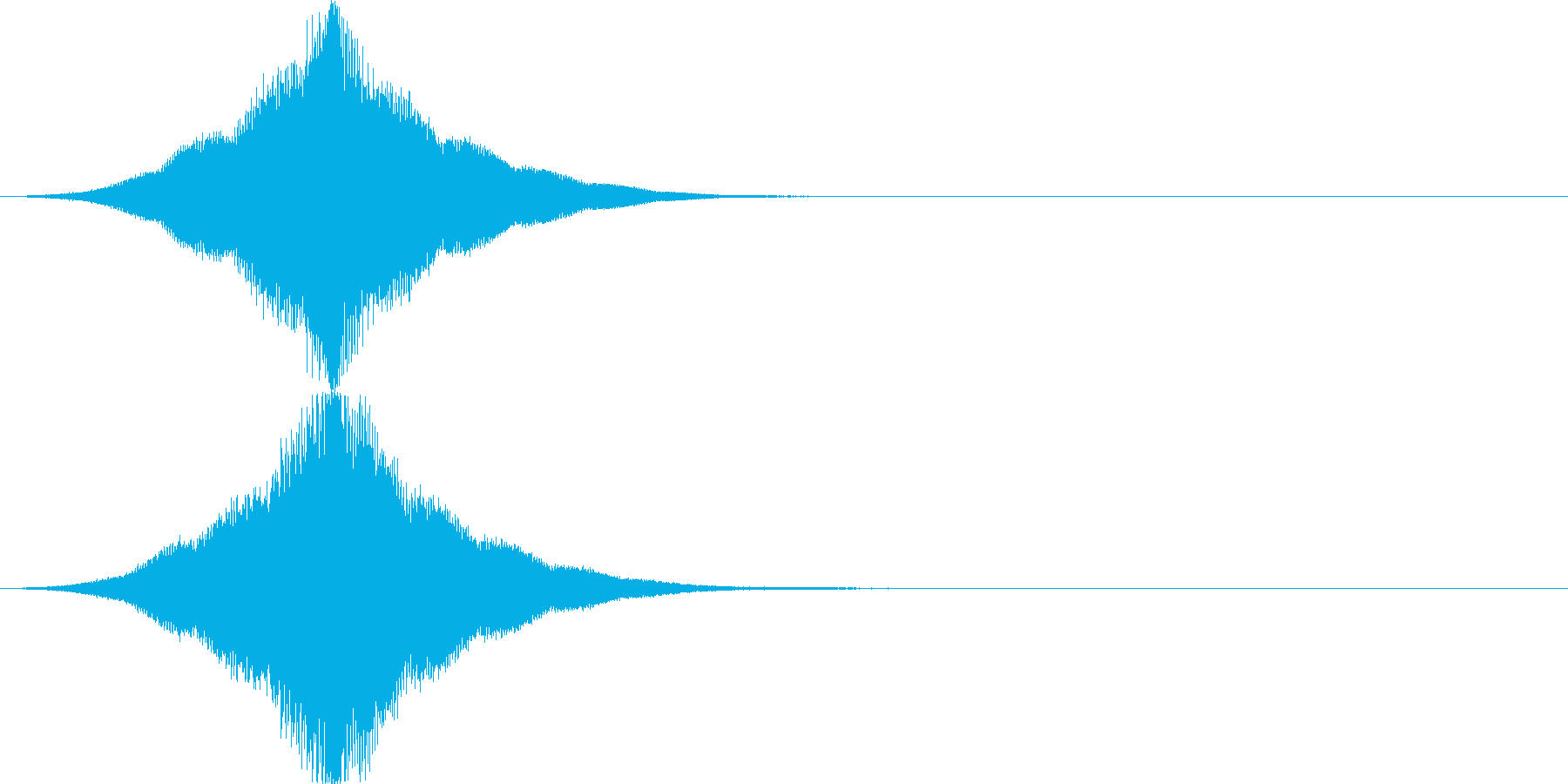 インパクト/フェード/大きくなる/重厚2の再生済みの波形