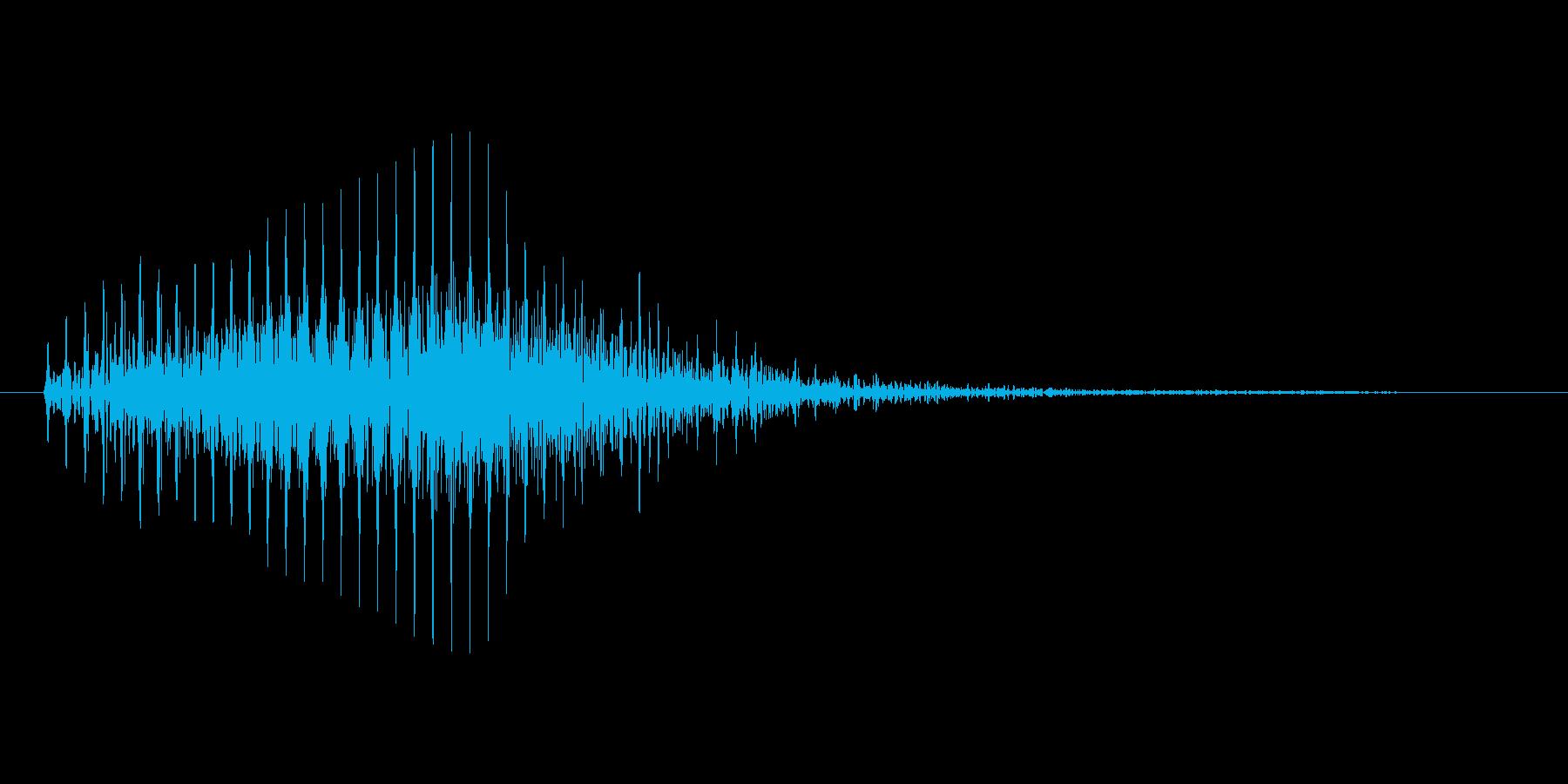 カートゥーン系の忍び足のような効果音の再生済みの波形