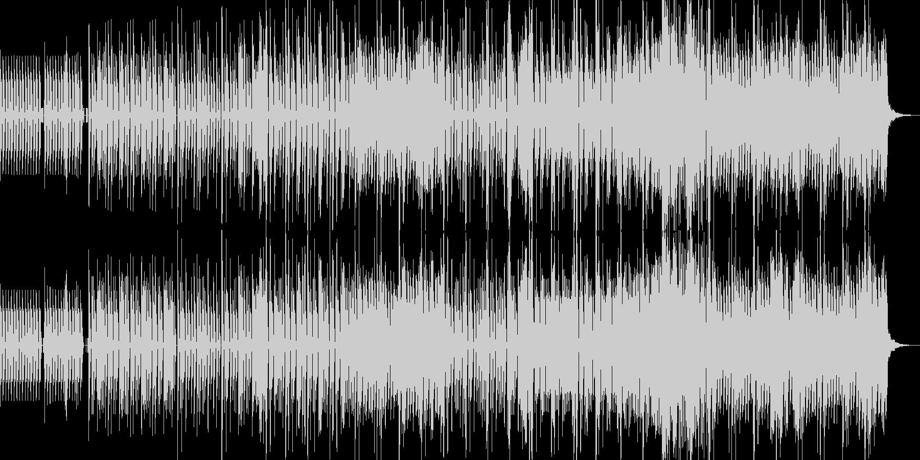 こ洒落たミドルテンポの4つ打ちの未再生の波形
