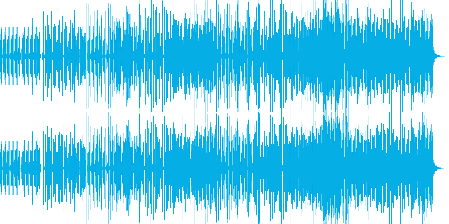 こ洒落たミドルテンポの4つ打ちの再生済みの波形