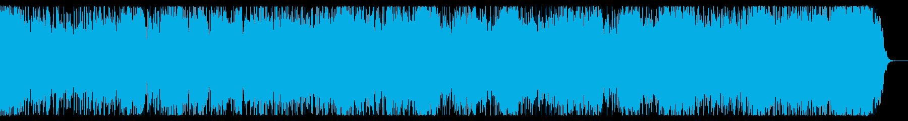 軽快なチップチューンの再生済みの波形