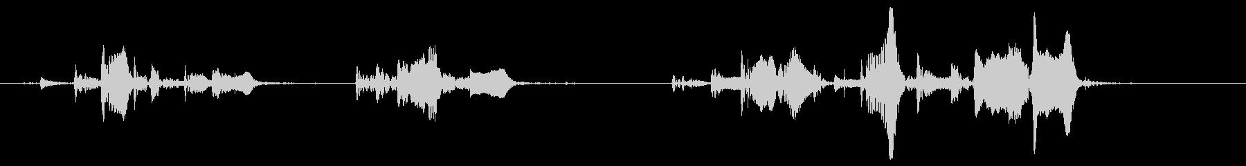 短い泡の噴出、フォリー、ボイルの未再生の波形