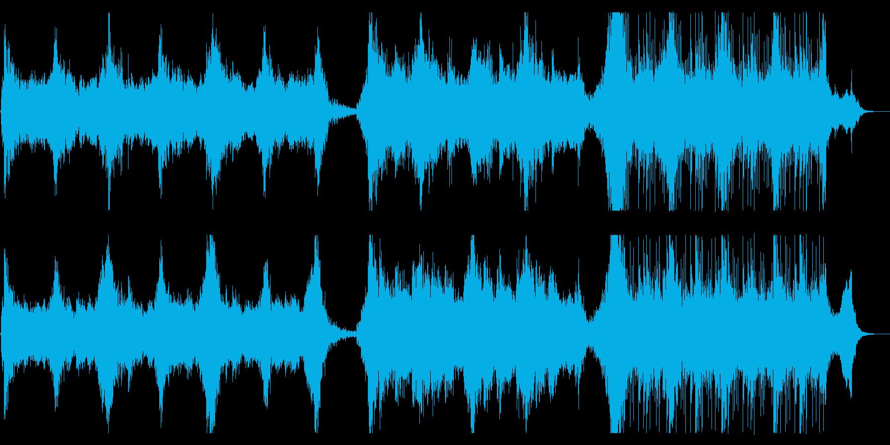 神秘的で重厚感と疾走感がある曲の再生済みの波形