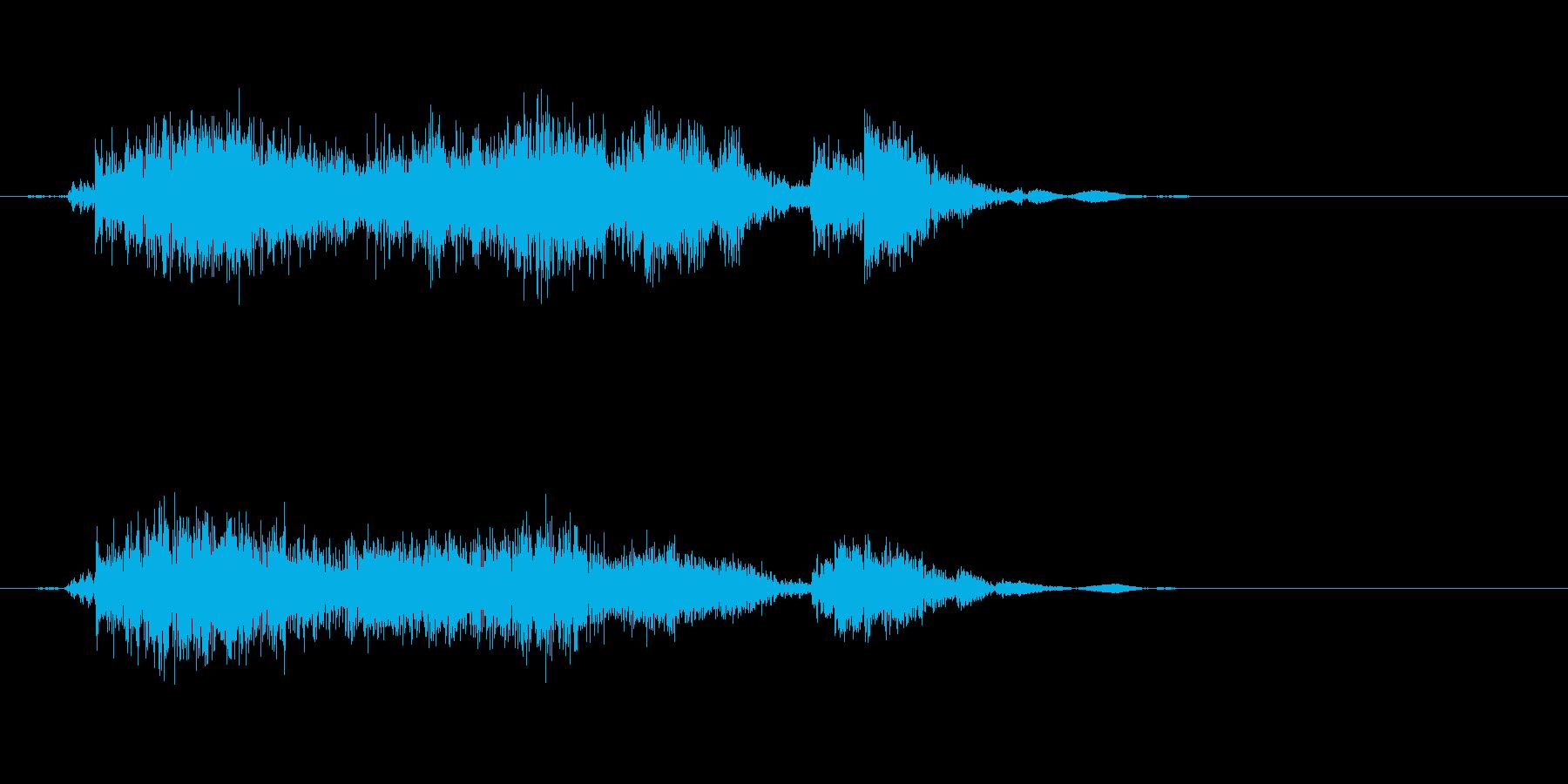 雨戸を開ける音ですの再生済みの波形