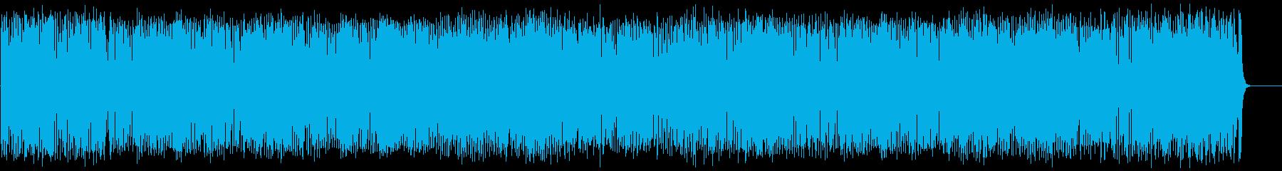 元気で活動的なフュージョンの再生済みの波形