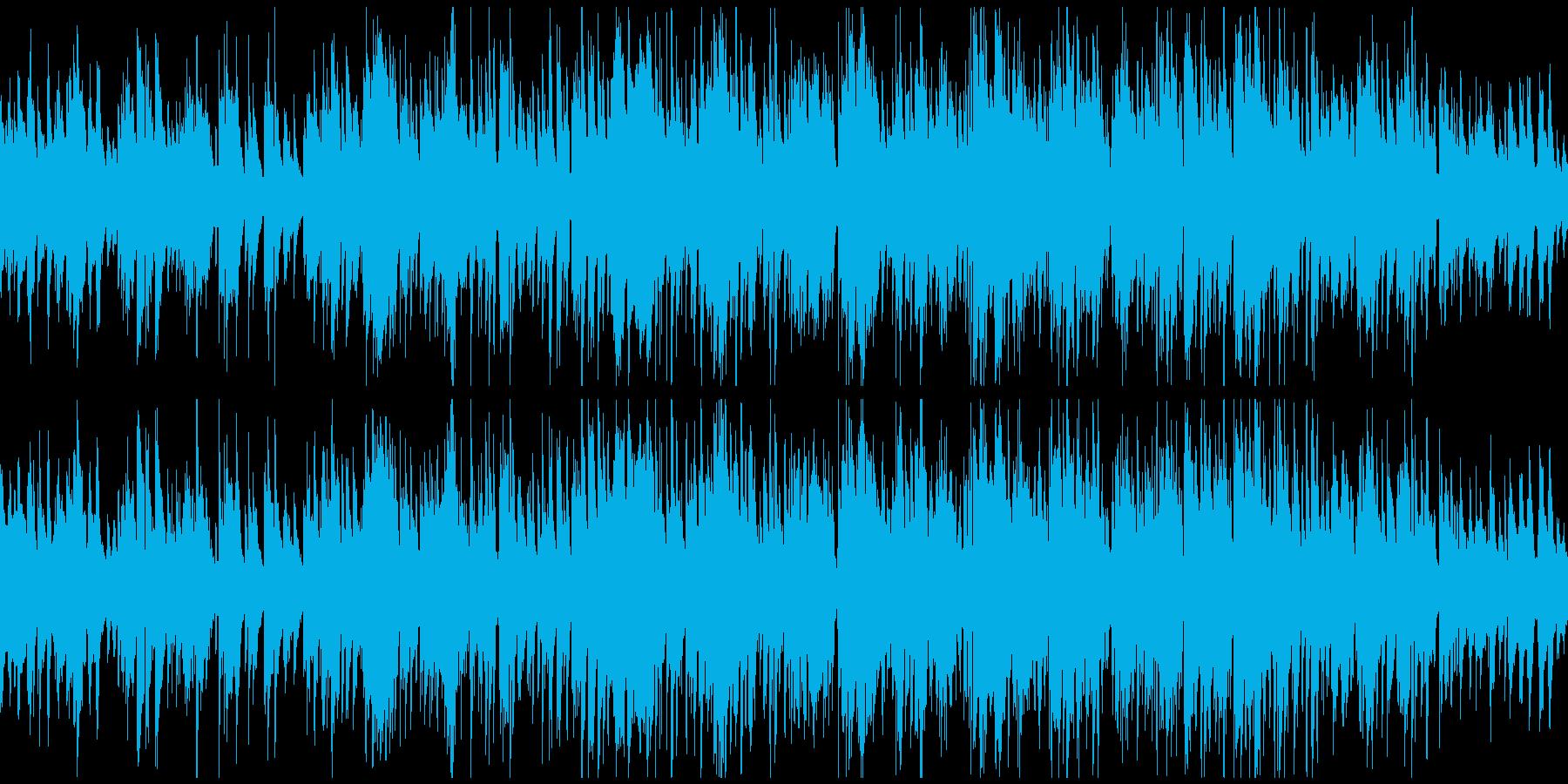 お洒落で軽快スイング感のジャズ※ループ版の再生済みの波形