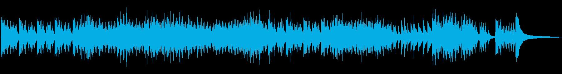 有名バッハチェロ曲をハープシコード2声での再生済みの波形