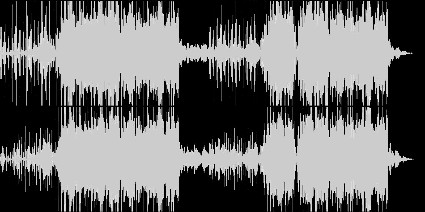 ミュートしたギターが特徴的なヒップホップの未再生の波形