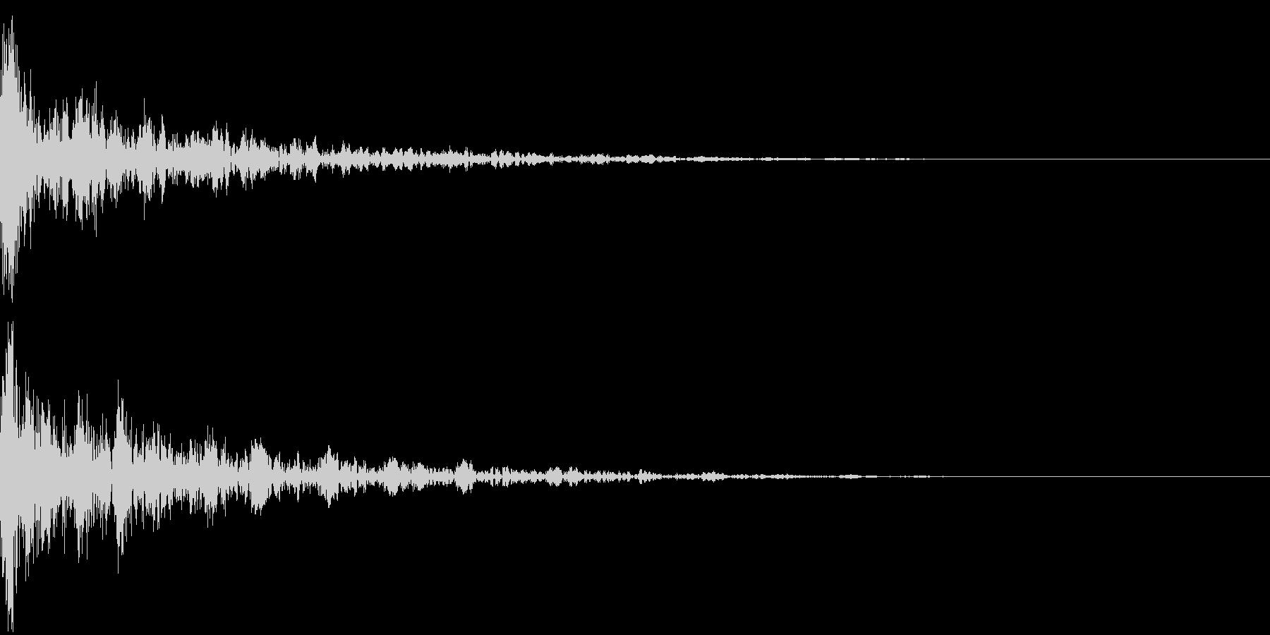 ドーン-19-2(インパクト音)の未再生の波形