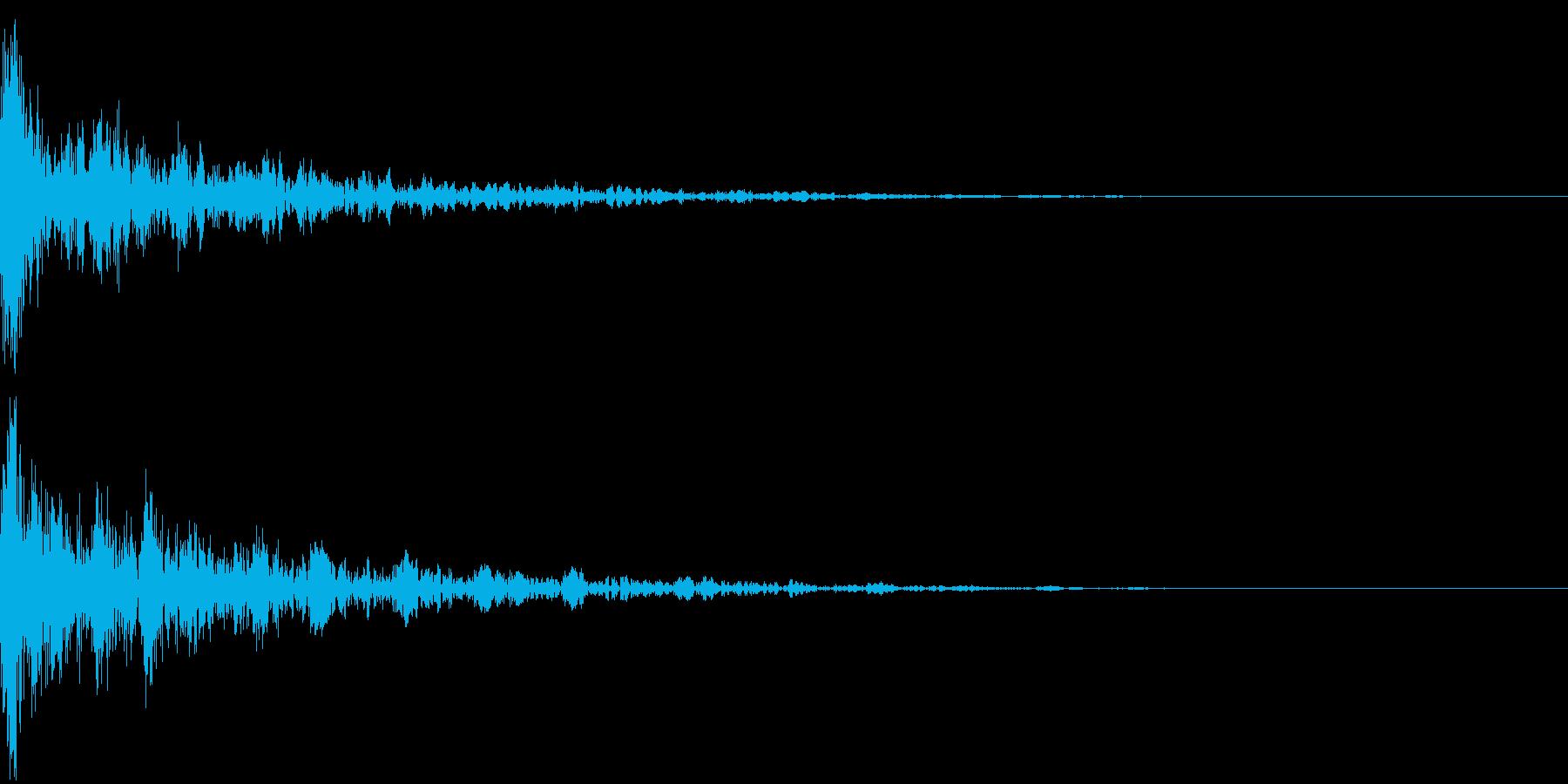 ドーン-19-2(インパクト音)の再生済みの波形