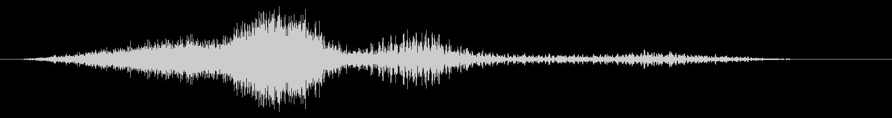 乱流ノイズパルスフーシュ2の未再生の波形