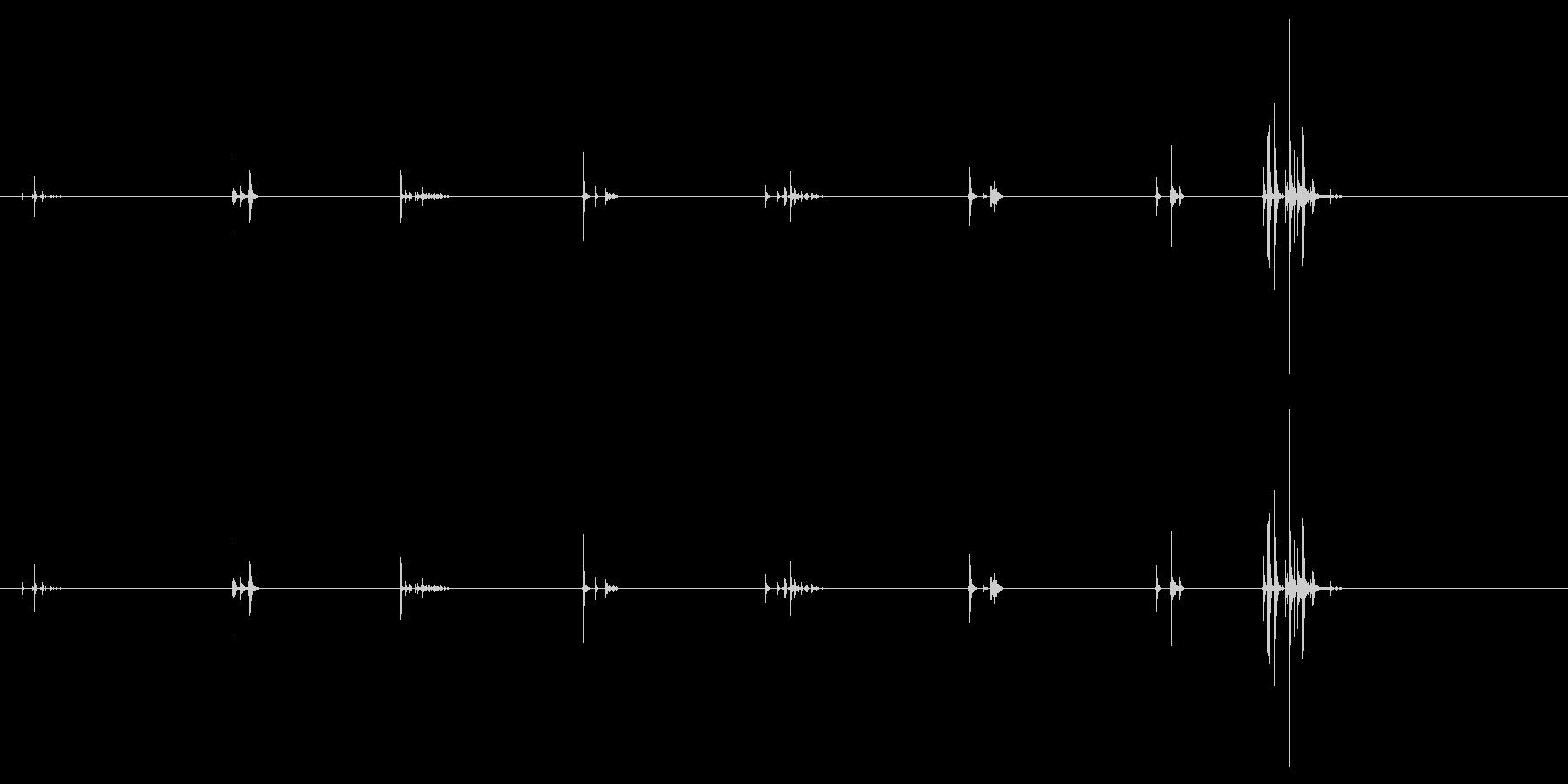 ブレットドロップストゥブリック(8...の未再生の波形