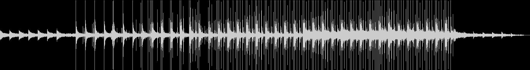 中国の太鼓を使った曲の未再生の波形