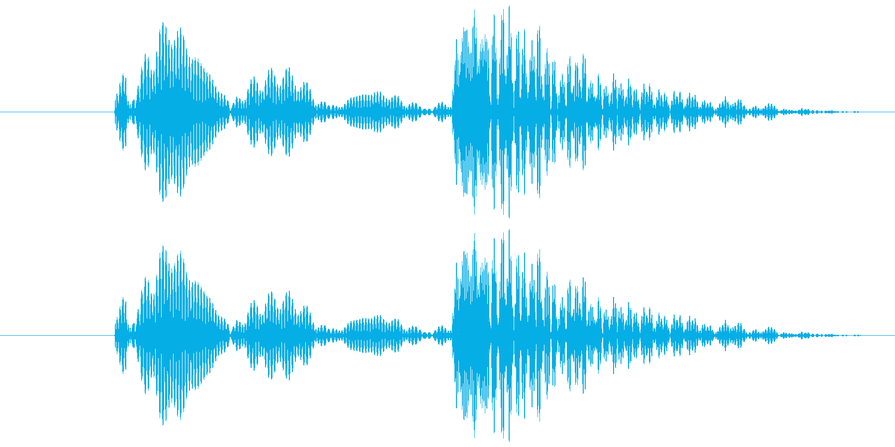 コミカルな殴る音 ポカの再生済みの波形