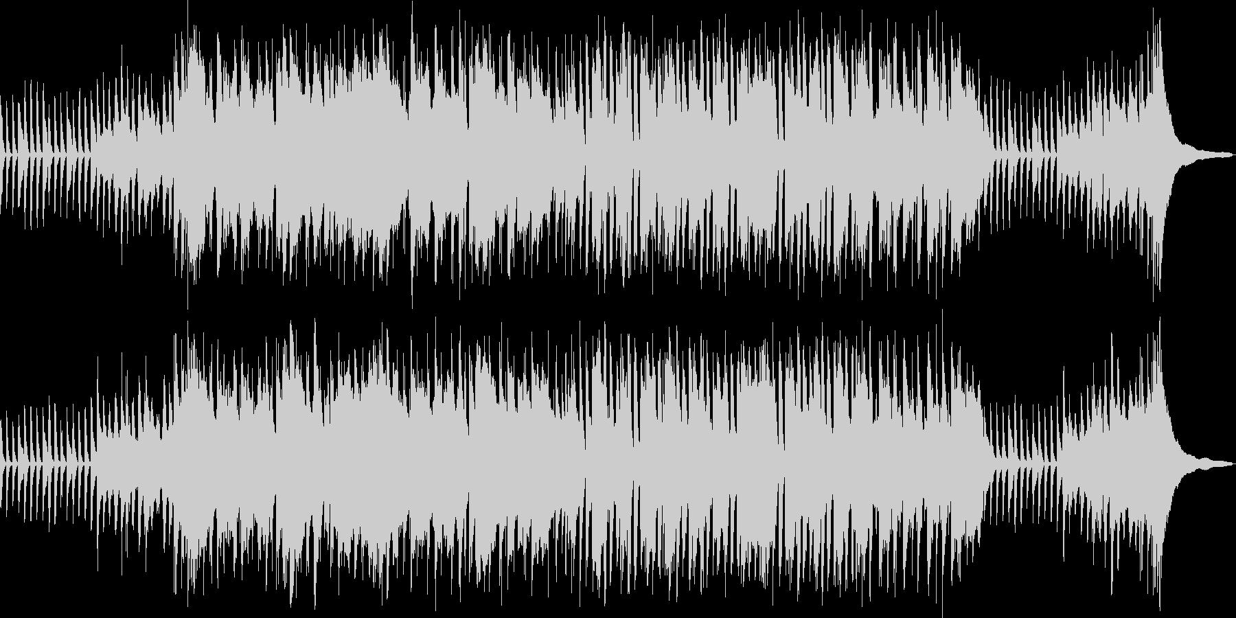 日常系アニメのほのぼのとした明るい楽曲の未再生の波形