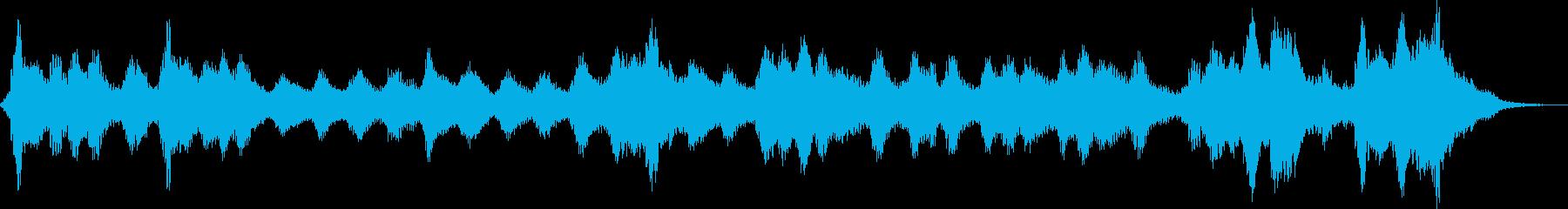 薄ら寒い雰囲気のホラー曲の再生済みの波形