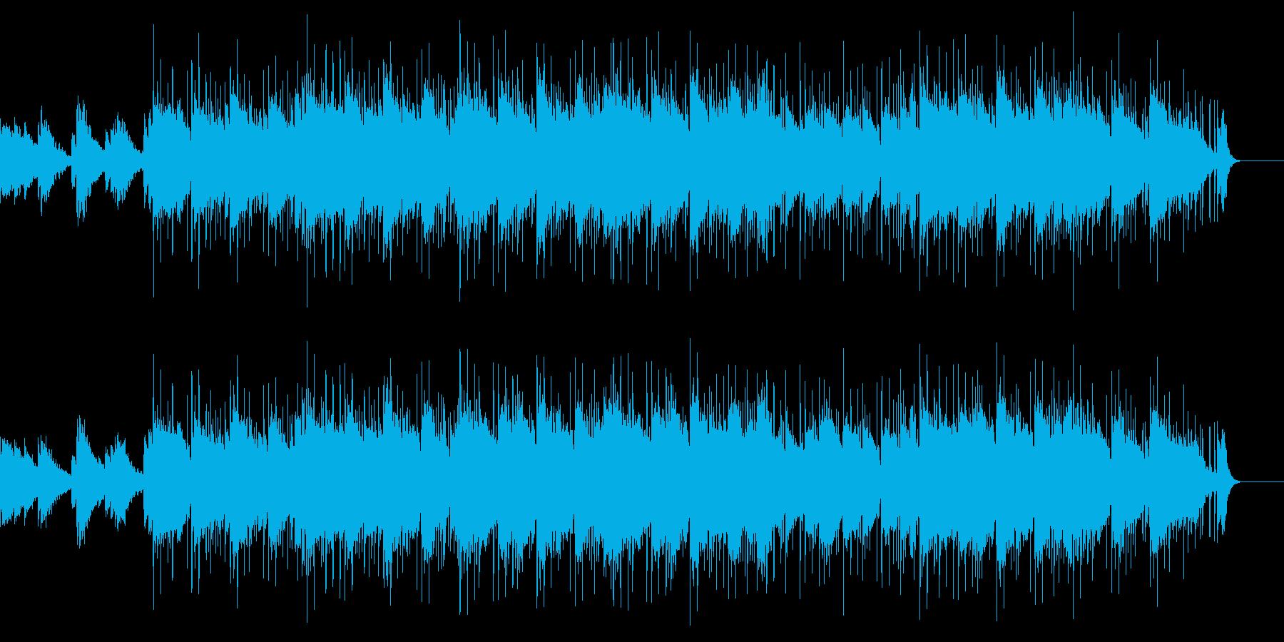 エレキギターで浮遊感のあるBGMの再生済みの波形