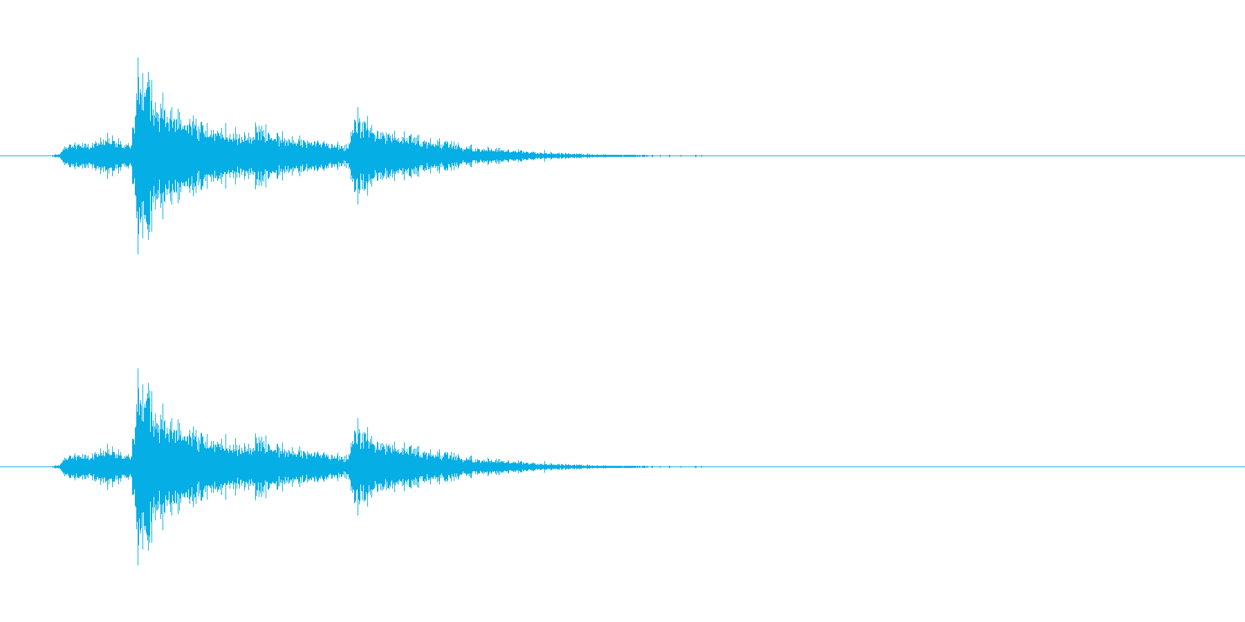 ドア(金属製)を開ける音01の再生済みの波形