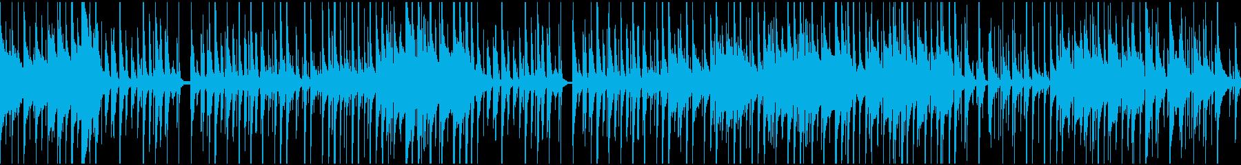 ほのぼの、可愛い感じのBGM(ループ)の再生済みの波形