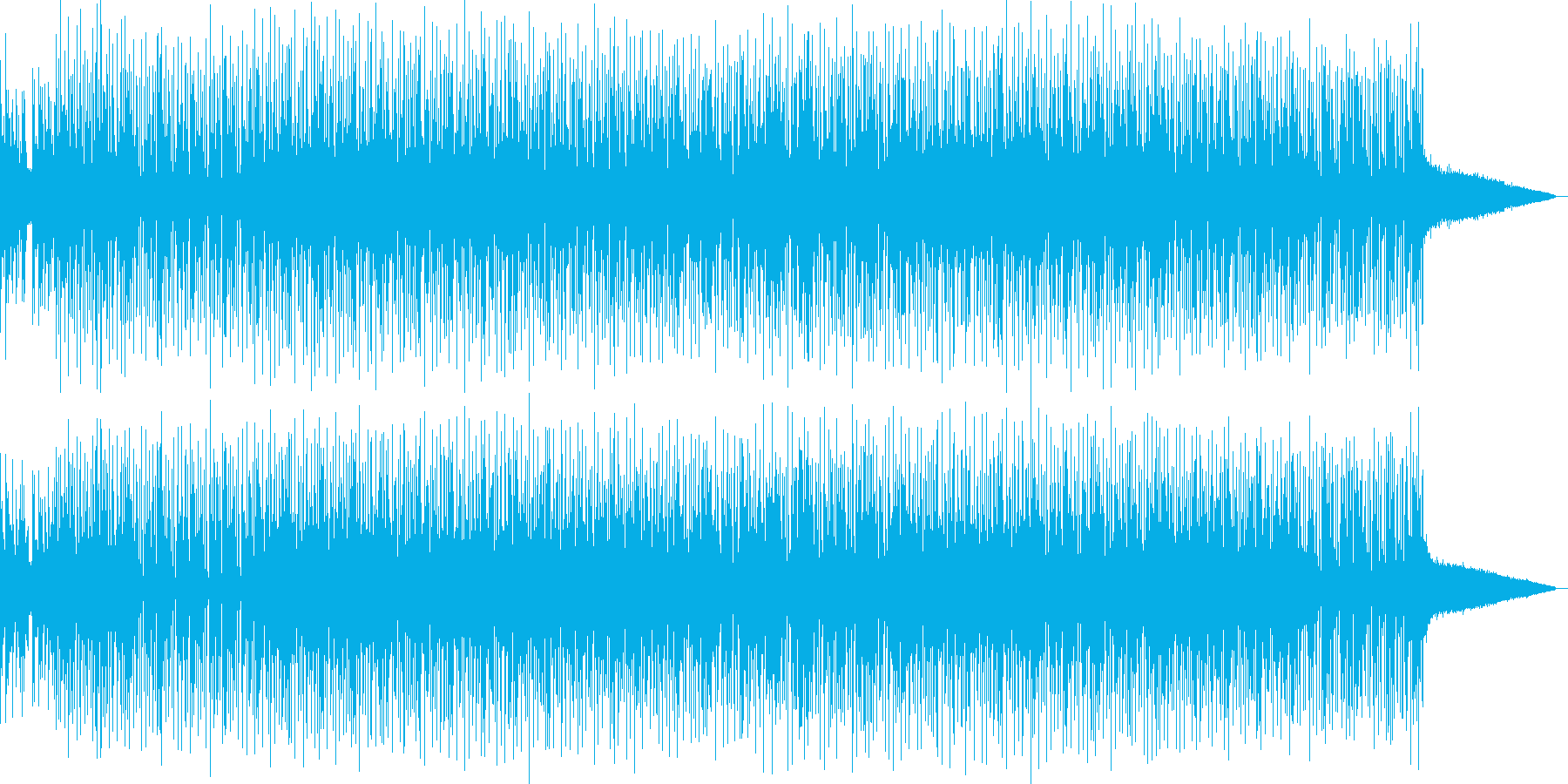 オケ・ヒット音と切ないピアノが印象的な曲の再生済みの波形