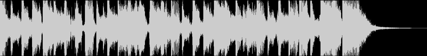 のんき、軽快ファンク系ジングル(11秒)の未再生の波形