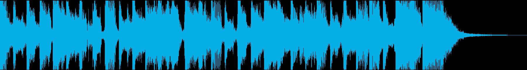 のんき、軽快ファンク系ジングル(11秒)の再生済みの波形