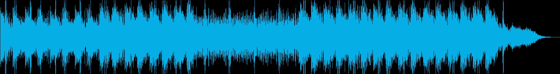 映像に最適なミニマル系BGMの再生済みの波形