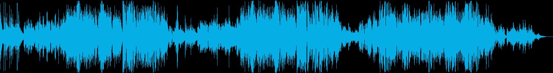 暖かなアコースティックバラードの再生済みの波形