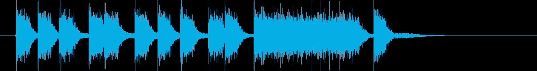 応援する時の音の再生済みの波形