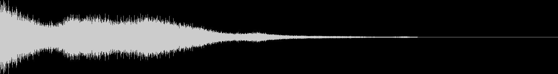 爆発や隕石が落ちた後のプシューという音の未再生の波形