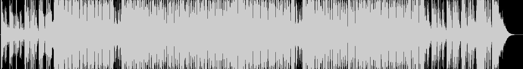 ニュース番組に合いそうなデジタルな曲の未再生の波形