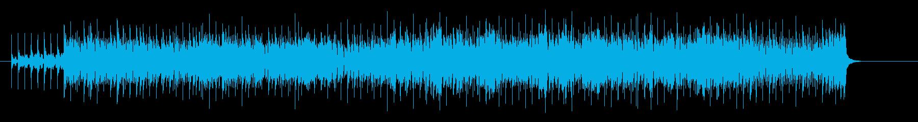 ラテン風味のユーロ・ハウス調の再生済みの波形
