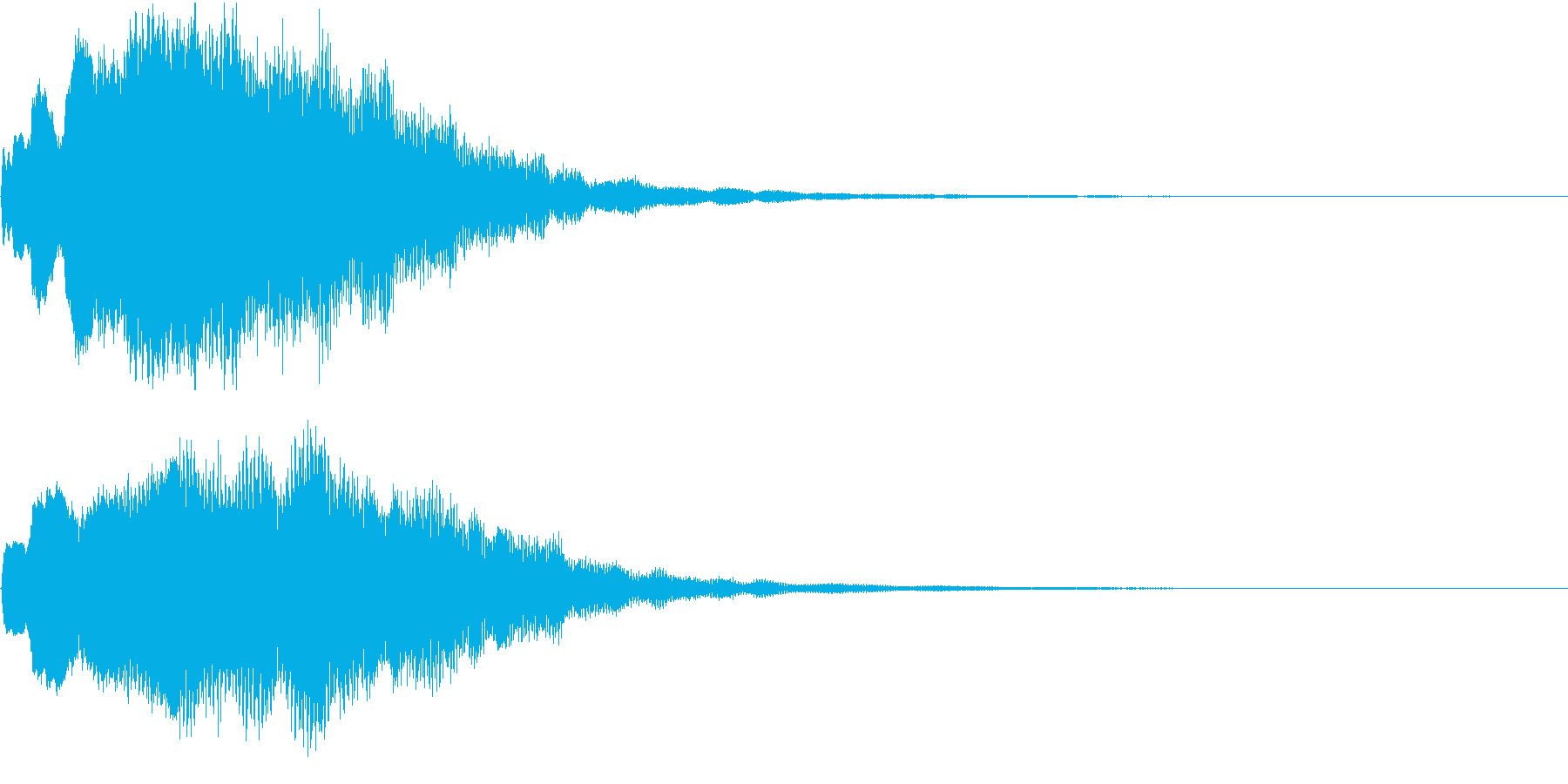 クリスマス ジングルベル キラキラ 01の再生済みの波形