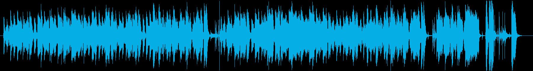 ゆったりテンポのジャズの再生済みの波形