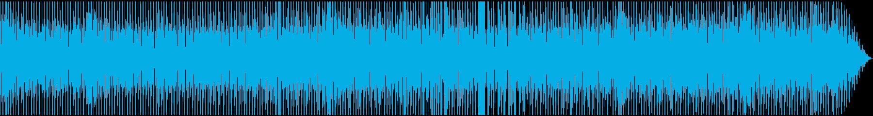 徐々に迫り来る緊張感とビートの再生済みの波形