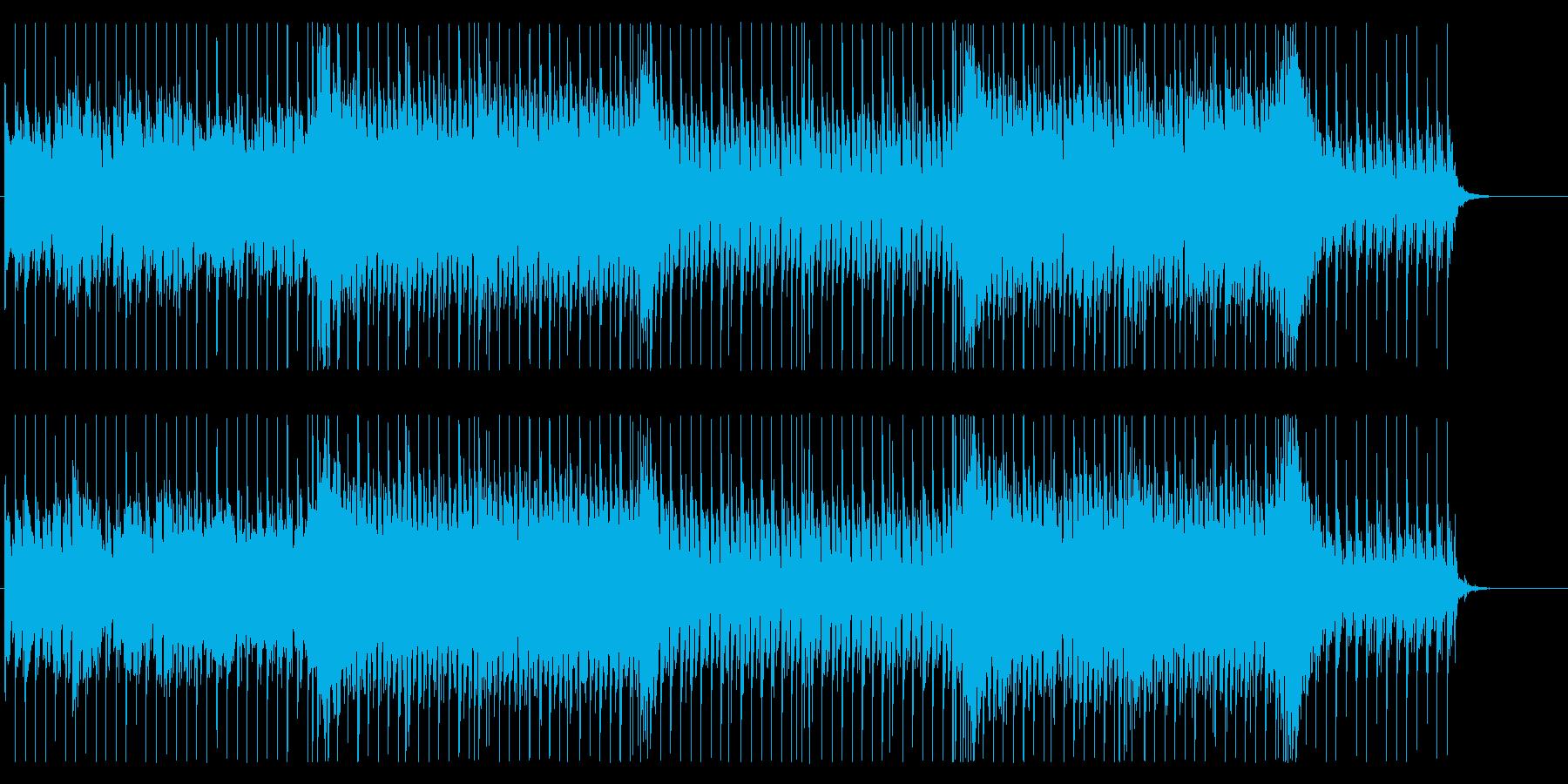 サイケデリックでエピックな攻撃的BGMの再生済みの波形