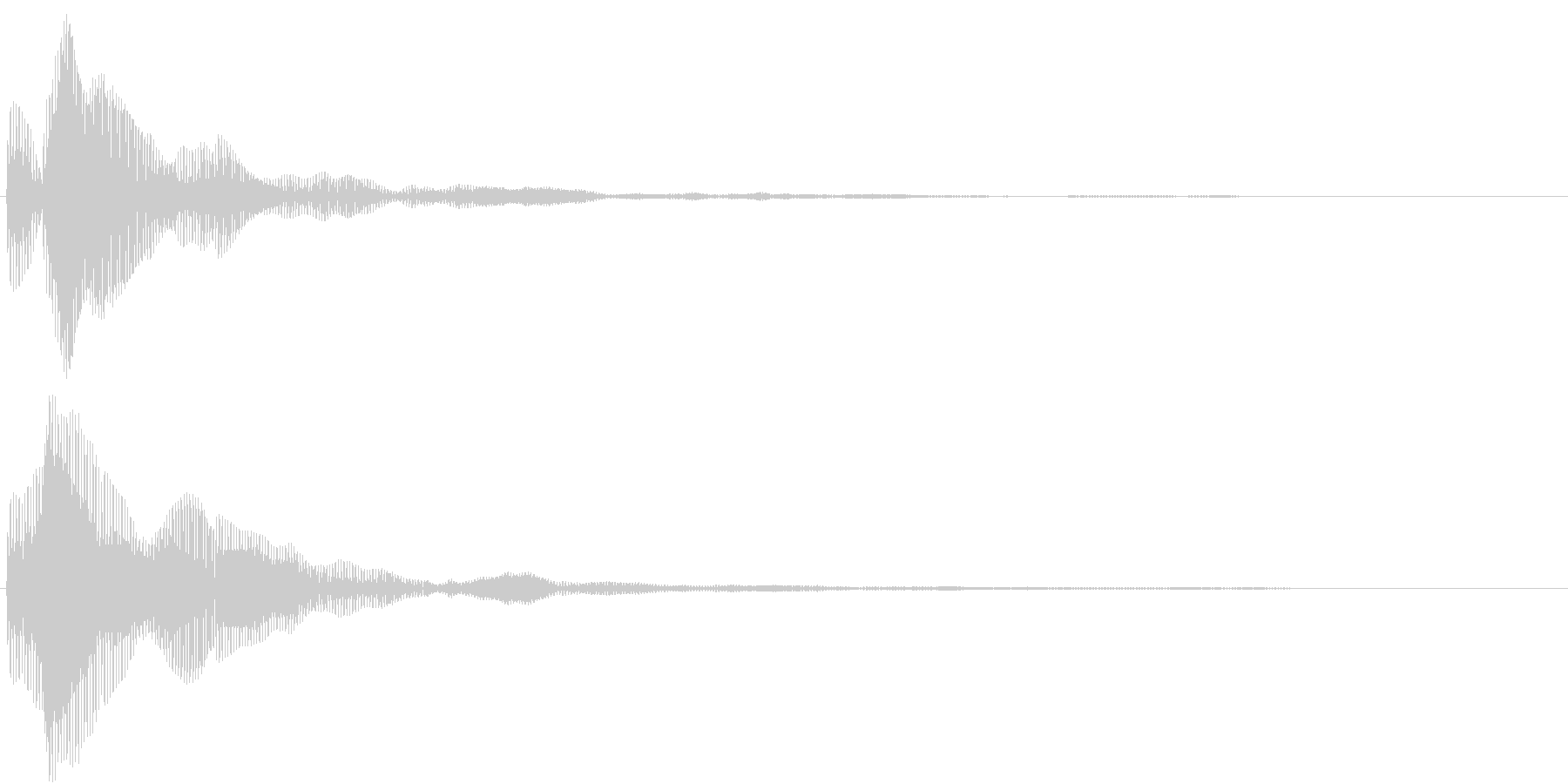 ピッというメニュー画面などで選択する音の未再生の波形