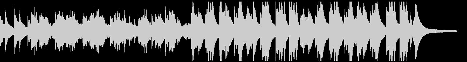 暗い過去を回想するような重いピアノオケ②の未再生の波形