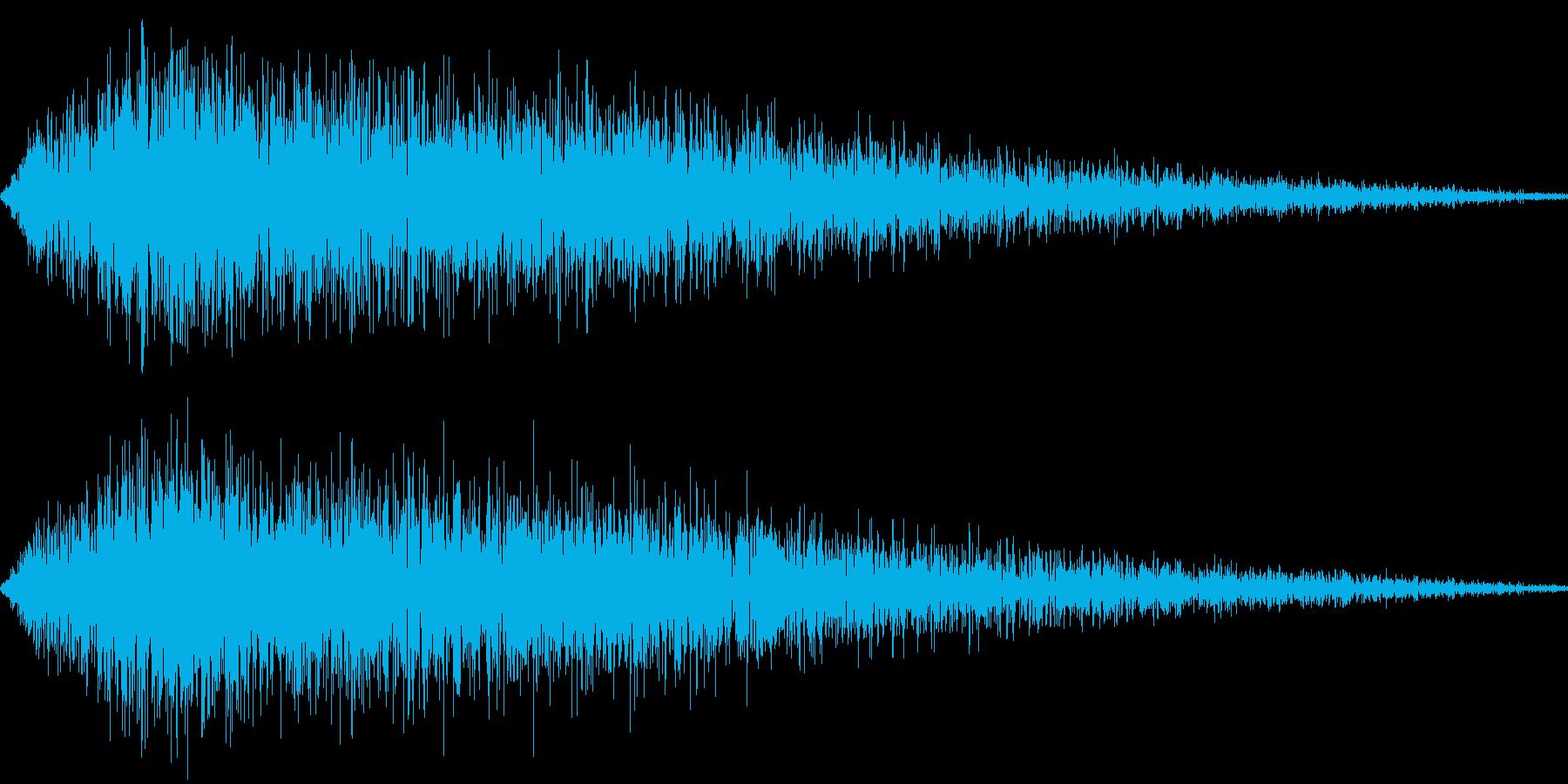 恐怖2(ピアノの音を加工)の再生済みの波形