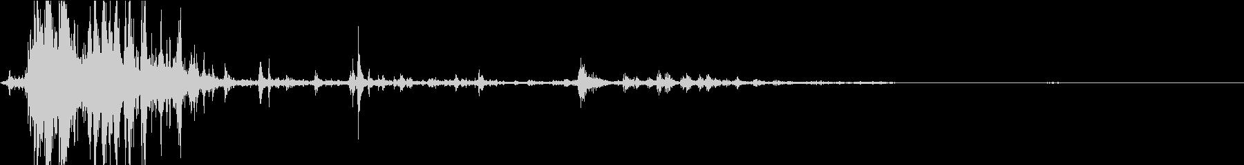 【自然音】雷「ゴロゴロ、ピシャ」02の未再生の波形