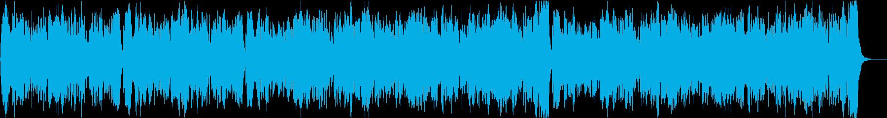 バッハの曲のクラシックアレンジの再生済みの波形